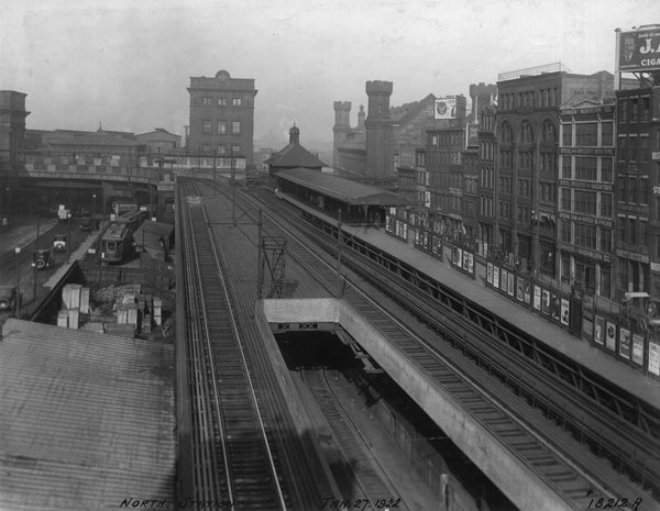 Haymarket Incline and North Station on the Elevated, January 27, 1922
