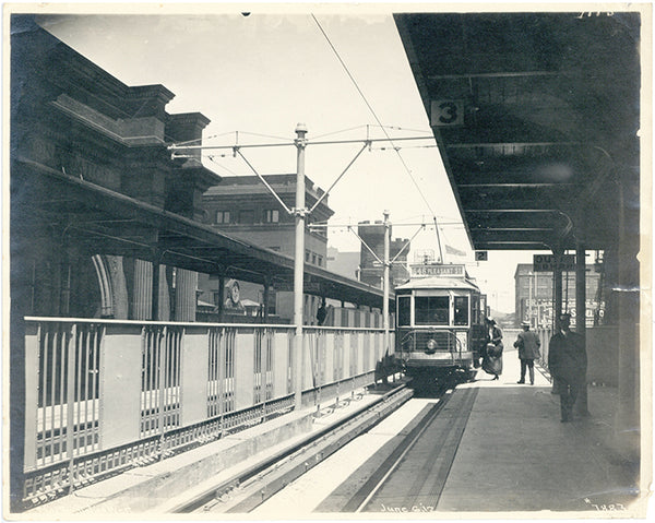 North Station West on the East Cambridge Extension, June 6, 1912