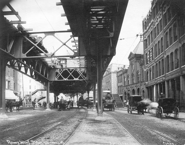 Atlantic Avenue at Rowe's Wharf, April 17, 1901