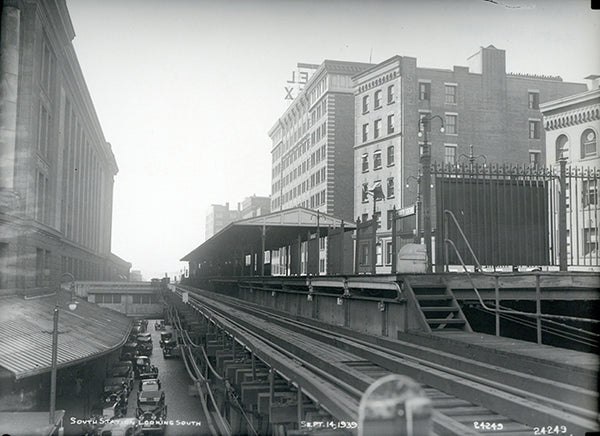 South Station on the Atlantic Avenue Elevated, September 14, 1939