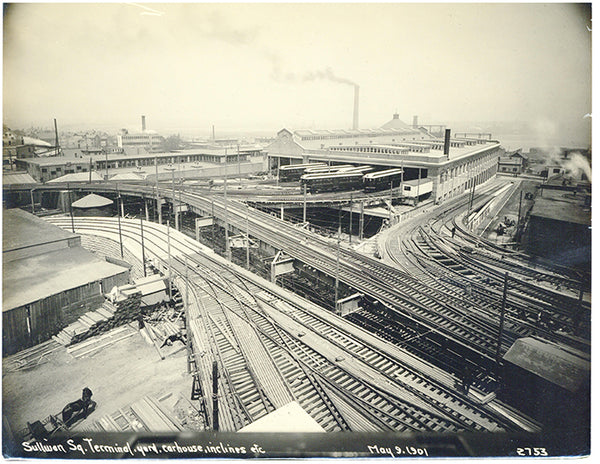 Behind Sullivan Square Terminal May 9, 1901
