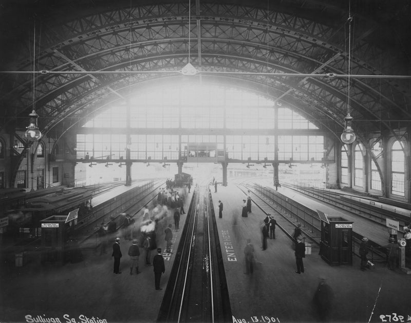 Under Sullivan Square Terminal's Shed, August 13, 1901