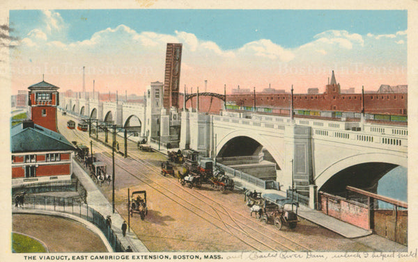 East Cambridge Extension Viaduct and Craigie's Bridge Circa 1912