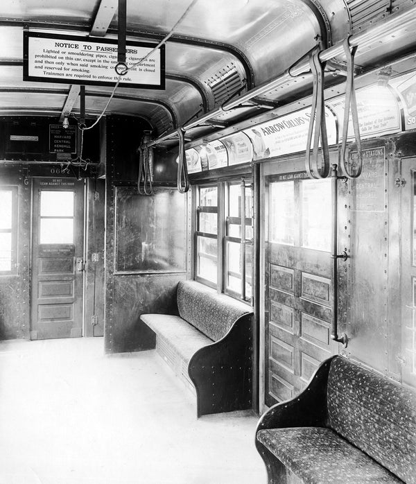 Cambridge-Dorchester Type 1 Rapid Transit Car Interior 1911