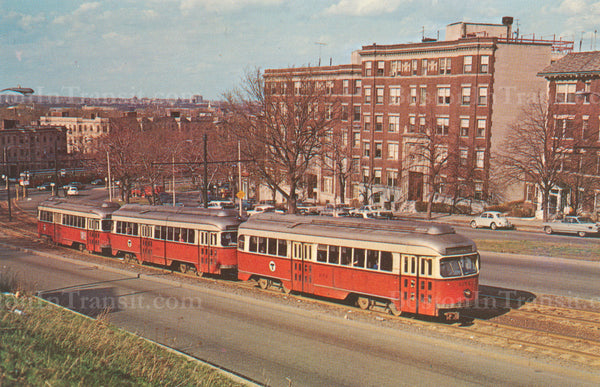 PCC Cars Westbound from Warren Street