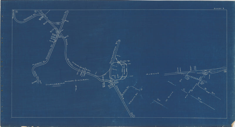 Boston Elevated Railway Co. Track Plans 1936 Plate 02: Dorchester and South Boston