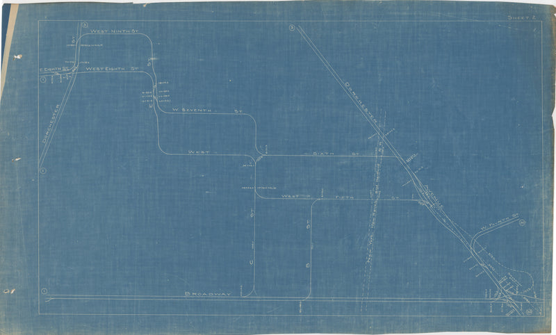 Boston Elevated Railway Co. Track Plans 1921 Plate 02: South Boston