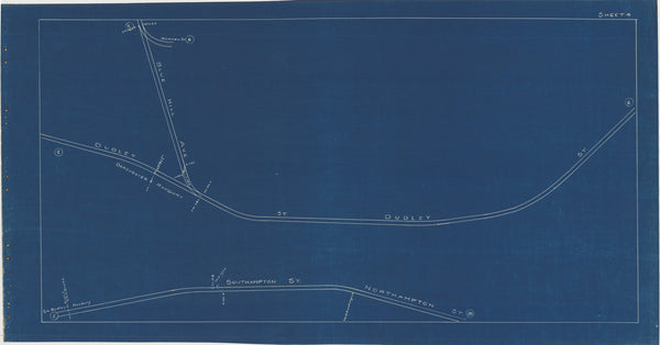 Boston Elevated Railway Co. Track Plans 1936 Plate 04: Roxbury