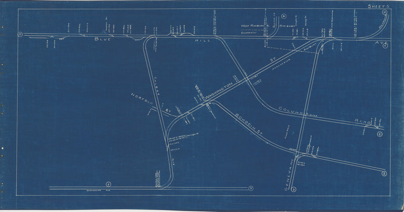 Boston Elevated Railway Co. Track Plans 1936 Plate 05: Dorchester and Roxbury