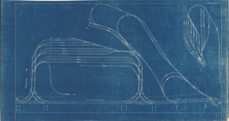 Boston Elevated Railway Co. Track Plans 1936 Plate 07: Jamaica Plain