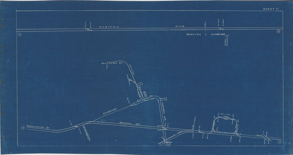 Boston Elevated Railway Co. Track Plans 1936 Plate 11: Brighton