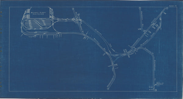 Boston Elevated Railway Co. Track Plans 1936 Plate 15: Cambridge - Harvard Square