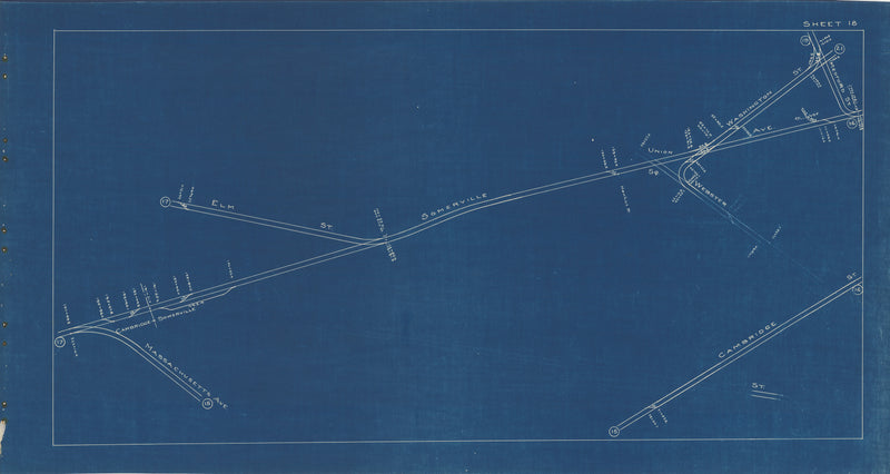 Boston Elevated Railway Co. Track Plans 1936 Plate 18: Cambridge and Somerville