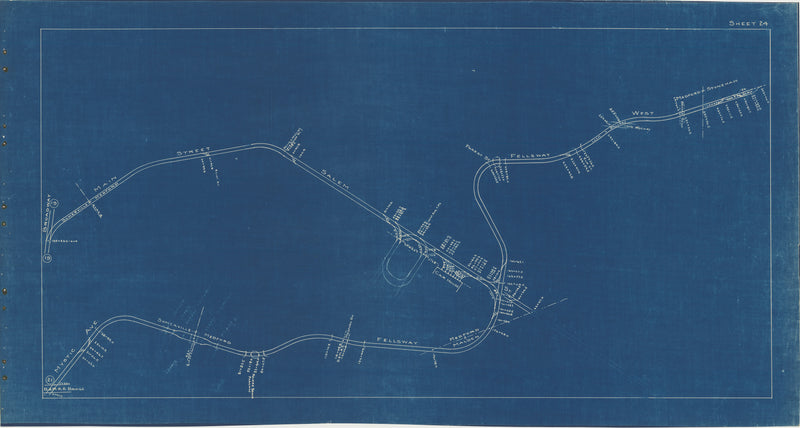 Boston Elevated Railway Co. Track Plans 1936 Plate 24: Medford and Somerville