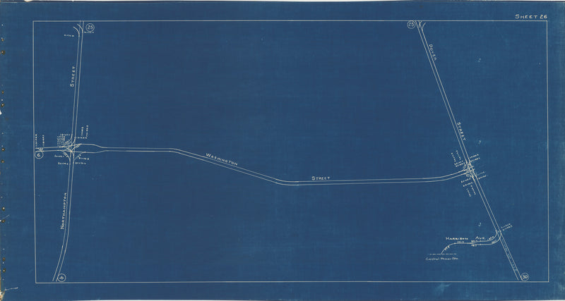 Boston Elevated Railway Co. Track Plans 1936 Plate 26: Boston - South End