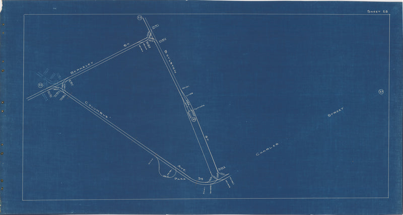 Boston Elevated Railway Co. Track Plans 1936 Plate 28: Boston - Park Square