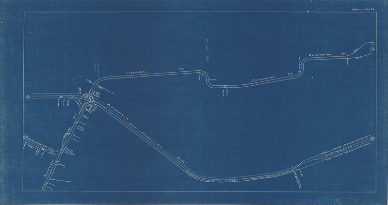 Boston Elevated Railway Co. Track Plans 1936 Plate 31-32: Boston - Downtown