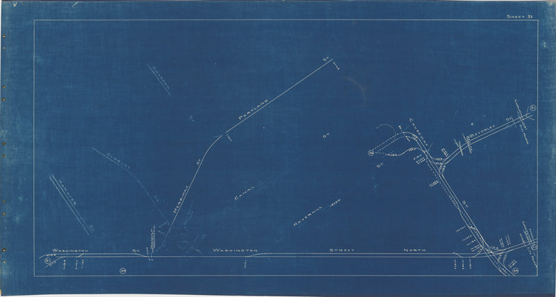 Boston Elevated Railway Co. Track Plans 1936 Plate 33: Boston - Bullfinch Triangle
