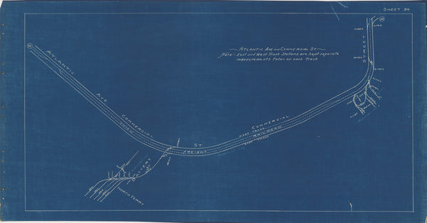 Boston Elevated Railway Co. Track Plans 1936 Plate 34: Boston - North End