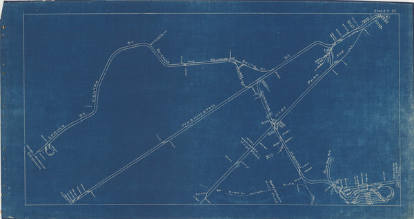 Boston Elevated Railway Co. Track Plans 1936 Plate 37: Dorchester, Hyde Park, Mattapan, and Roslindale