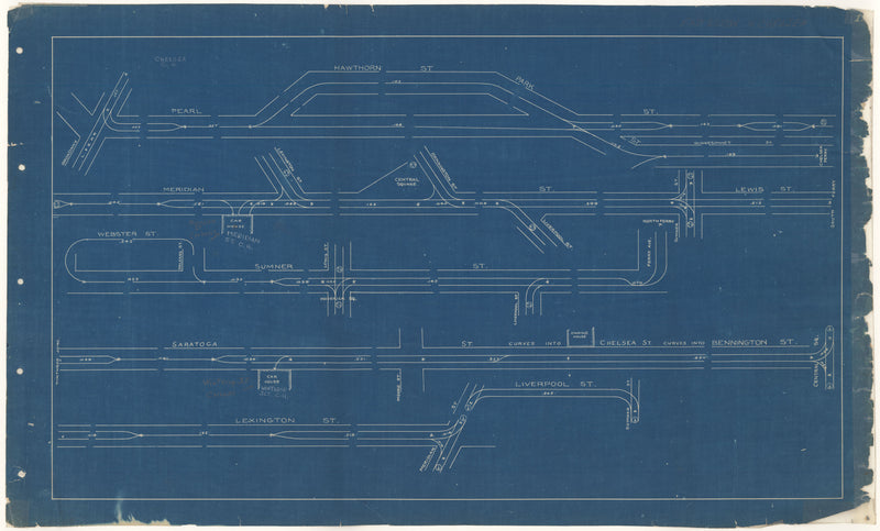 West End Street Railway Co. Track Plans 1892 Plate 01