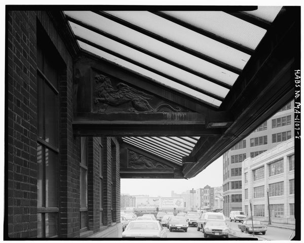 Back Bay Station South Canopy, Boston, Massachusetts, October 1979