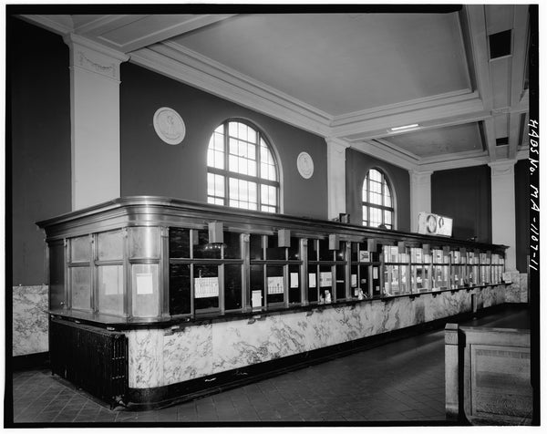 Back Bay Station Ticket Windows, Boston, Massachusetts, October 1979