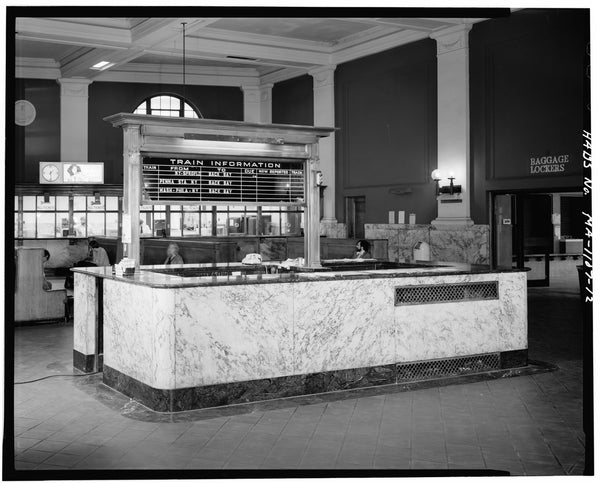 Back Bay Station Info Desk, Boston, Massachusetts, October 1979