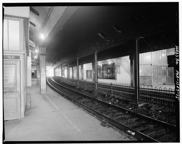 Back Bay Station Tracks, Boston, Massachusetts, October 1979