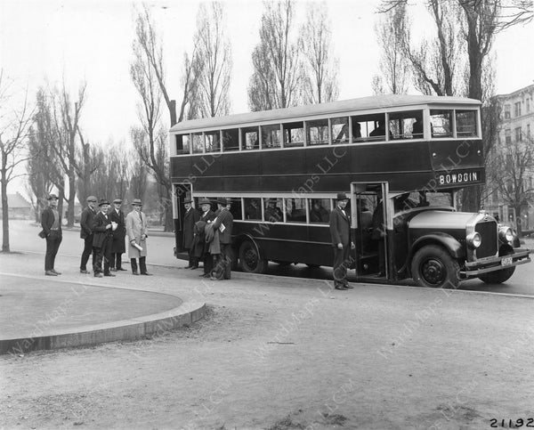 Boston Elevated Railway Co. Double-deck Bus, March 1924