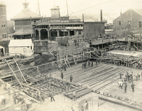 Building Lincoln Wharf Power Station, December 17, 1908