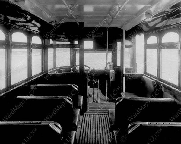 Boston Elevated Railway Company's First Bus 1922: Interior