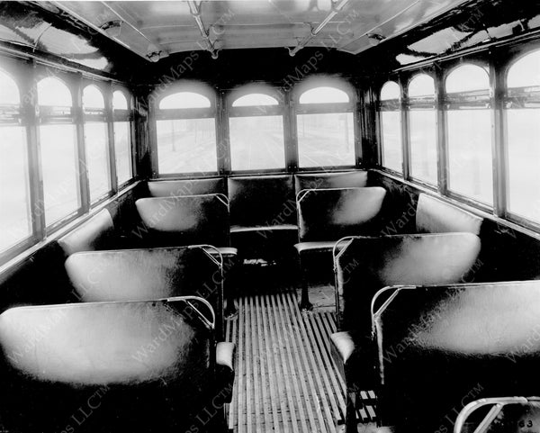 Boston Elevated Railway Company's First Bus 1922: Seating Area