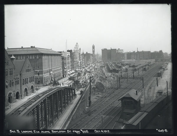 Back Bay Coach Yard of the Boston & Albany Railroad, October 4, 1912