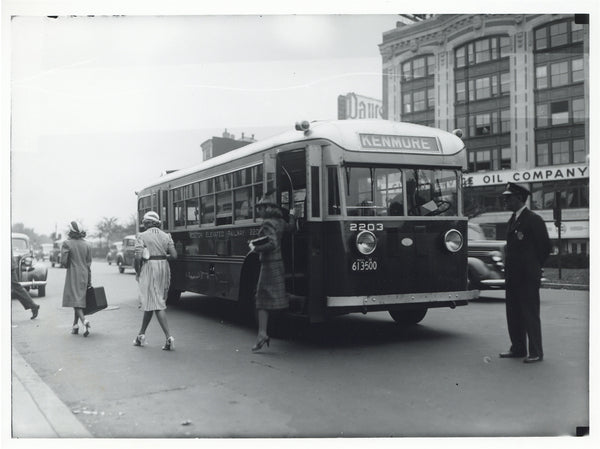 Boston Elevated Railway Co. Bus #2203 at Kenmore Square