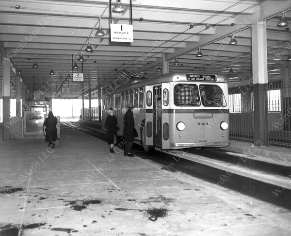 Day Square Station Busway, January 8, 1952
