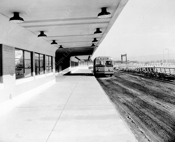 Airport Station Busway, January 8, 1952