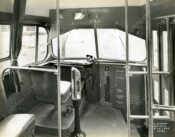 Boston Elevated Railway Co. PCC Car #3190 Front End 1945
