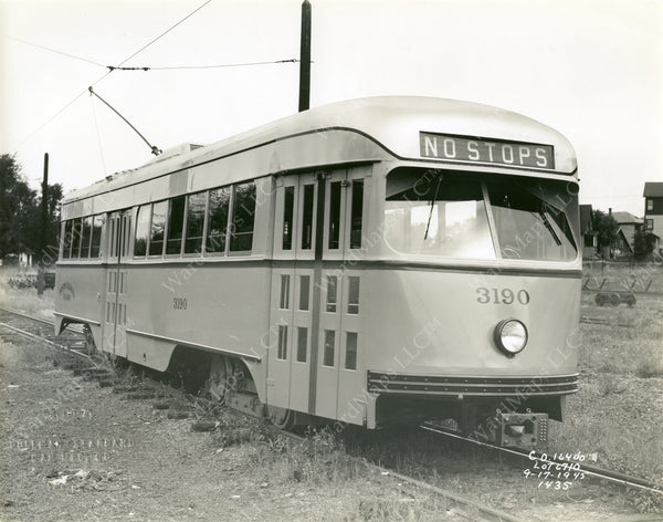 Boston Elevated Railway Co. PCC Car #3190, 1945