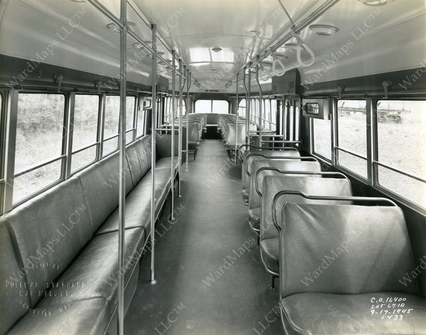 Boston Elevated Railway Co. PCC Car #3190 Seating Area 1945