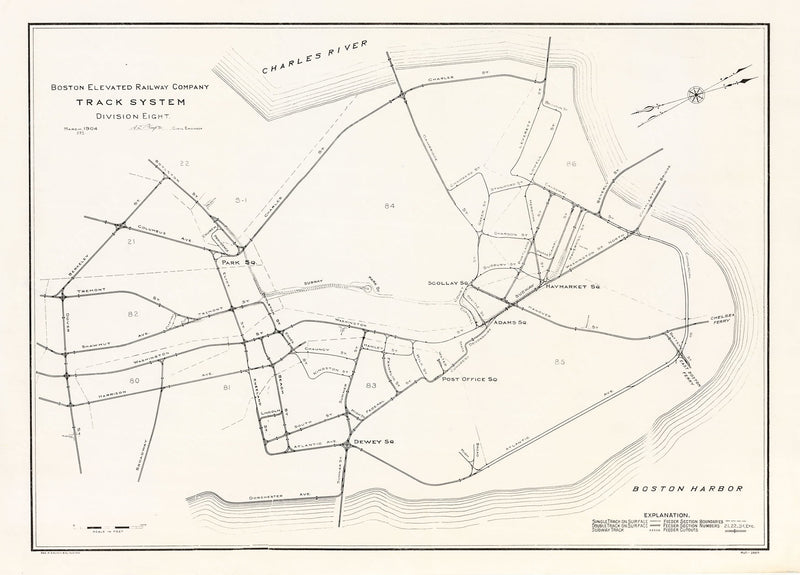 Boston Elevated Railway Track System: Division 8, March 1904