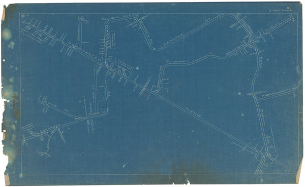 Boston Elevated Railway Co. Track Plans 1908 Plate 03-04