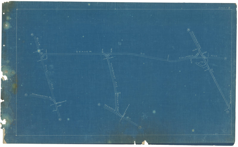 Boston Elevated Railway Co. Track Plans 1908 Plate 08