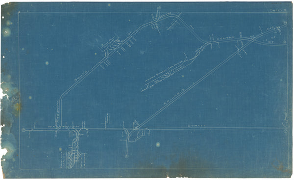 Boston Elevated Railway Co. Track Plans 1908 Plate 09