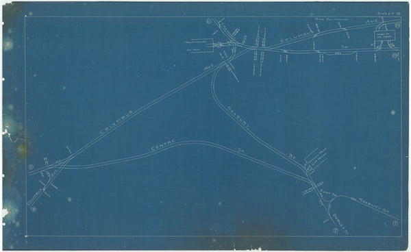 Boston Elevated Railway Co. Track Plans 1908 Plate 10