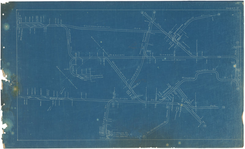 Boston Elevated Railway Co. Track Plans 1908 Plate 11