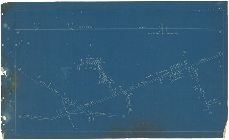 Boston Elevated Railway Co. Track Plans 1908 Plate 12A