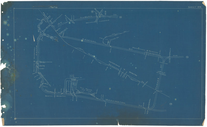 Boston Elevated Railway Co. Track Plans 1908 Plate 12B