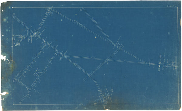 Boston Elevated Railway Co. Track Plans 1908 Plate 13