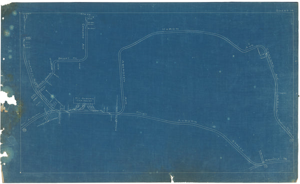 Boston Elevated Railway Co. Track Plans 1908 Plate 14